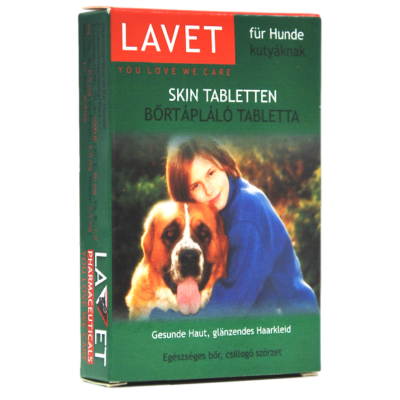 Lavet bőrtápláló tabletta kutya 50 db/doboz